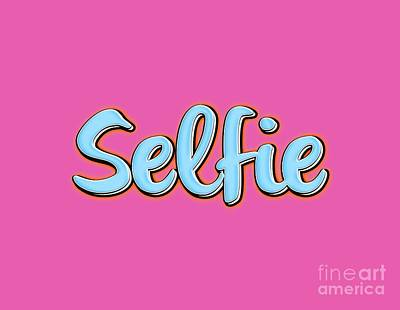 Digital Art - Selfie Tee by Edward Fielding