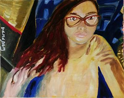 Inner World Painting - Selfportrait by Darabem Artist