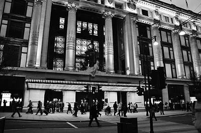 Selfridge Photograph - Selfridges Oxford Street by Caroline Reyes-Loughrey