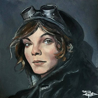 Tom Cat Painting - Selina by Tom Carlton