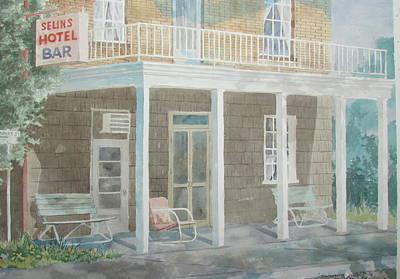 Painting - Selins Hotel by Tony Caviston