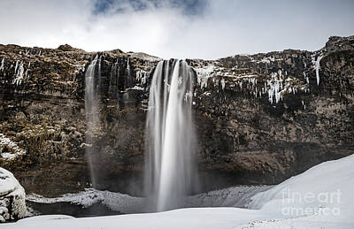 Photograph -  Seljalandsfoss Waterfall by Anna Om