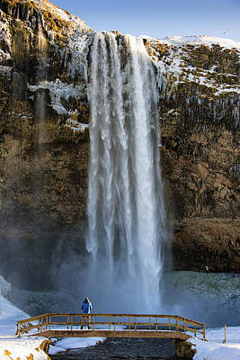 Print featuring the photograph Seljalandsfoss Waterfall Iceland Europe by Matthias Hauser