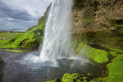 Photograph - Seljalandsfoss With Rainbow, Iceland by Venetia Featherstone-Witty