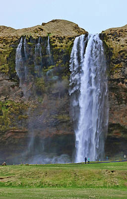 Photograph - Seljalandsfoss Waterfall # 1 by Allen Beatty