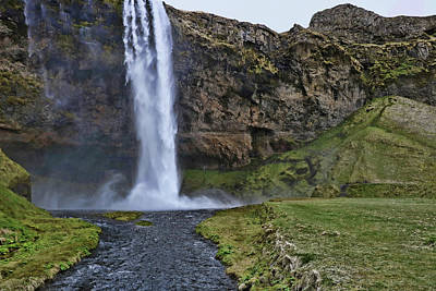 Photograph - Seljalandsfoss Waterfall # 3 by Allen Beatty