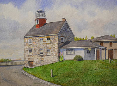 Salmon Painting - Selkirk Lighthouse by Tyler Ryder
