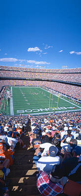 Turf Photograph - Sell-out Crowd At Mile High Stadium by Panoramic Images