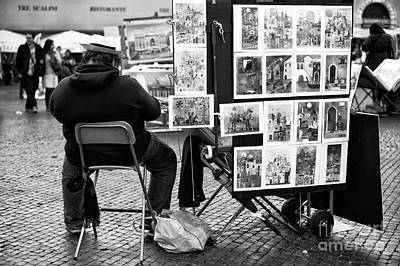 Photograph - Selling Art In Rome by John Rizzuto