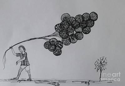 Drawing - Selling Dreems by Usha Rai