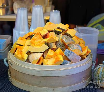 Photograph - Selling Fresh Pumpkin Shakes by Yali Shi