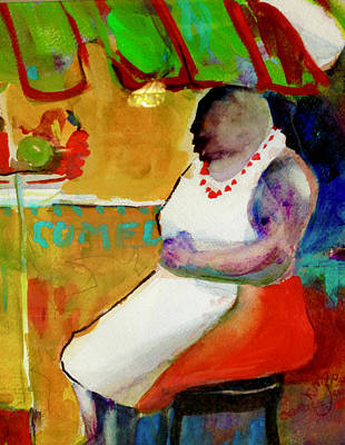 Painting - Selling Fruit In Colombia by Carole Johnson