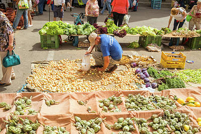 Photograph - Selling Onions On A Market by Patricia Hofmeester