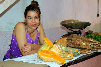 Photograph - Selling Produce In The Cienfuegos Public Market by Laurel Talabere
