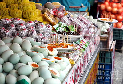 Photograph - Selling Salted Duck Eggs And Preserved Eggs by Yali Shi