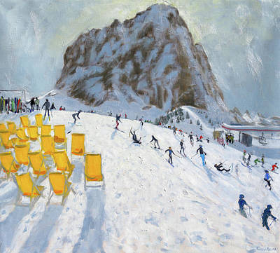 Mountain Painting - Selva Val Gardena, Italy by Andrew Macara