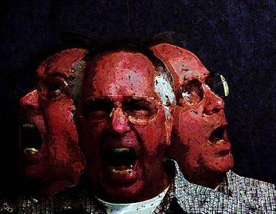 Self-portrait Digital Art - Selves Portrait by Ron Bissett