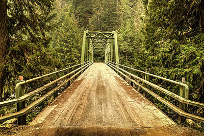 Selway River Bridge Art Print