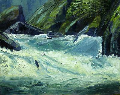 Salmon River Idaho Painting - Selway-wild And Scenic River- Idaho by Tom Siebert