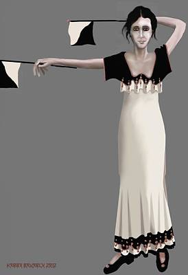 Digital Art - Semaphore Girl by Kerry Beverly