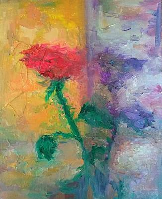 Painting - Semi Abstract Flowers#1 by Brian Kardell