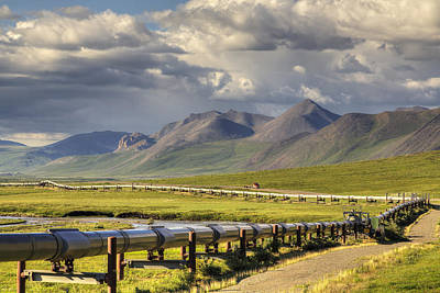 Dalton Highway Photograph - Semi Truck Driving The Haul Road  James by Lucas Payne