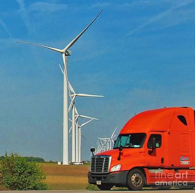 Semi Truck Wind Turbine Original