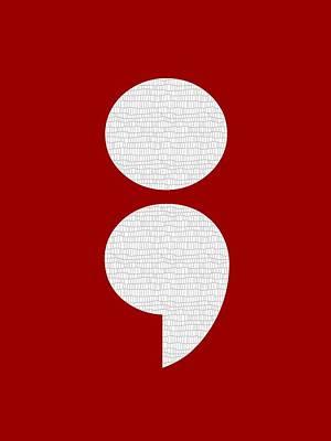 Digital Art - Semicolon 011 by Bill Owen