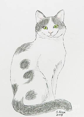 Drawing - Semicolon Cat by Stefanie Forck