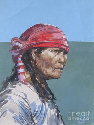 Character Studies Painting - Seminole 1987 by Bob George