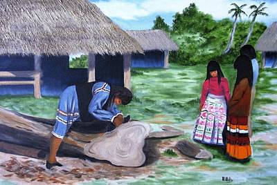 Painting - Seminole Canoe by Maria Mills