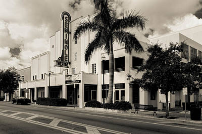 Photograph - Seminole Theatre Homestead Florida by Rudy Umans