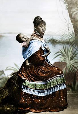 Seminole Woman & Child Art Print by Granger
