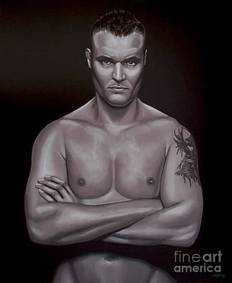 Boxing Painting - Semmy Schilt by Paul Meijering
