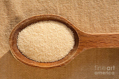 Semolina Grains Groats Portion Art Print by Arletta Cwalina