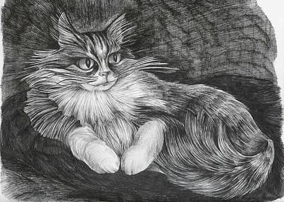 Art Print featuring the drawing Semona by Anna  Duyunova
