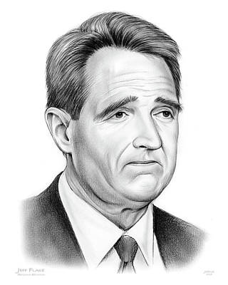 Drawings Royalty Free Images - Sen Jeff Flake Royalty-Free Image by Greg Joens