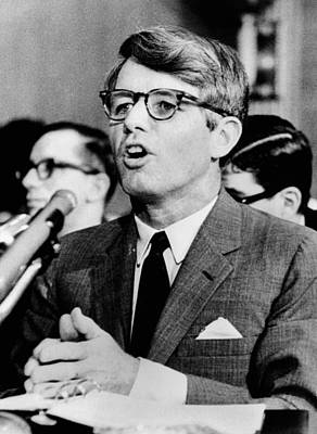 Rs2wn Photograph - Sen. Robert F. Kennedy Testifying by Everett