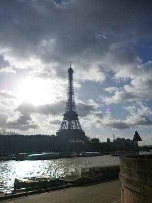 Paris Skyline Royalty-Free and Rights-Managed Images - Sena Sunset by Laura Greco