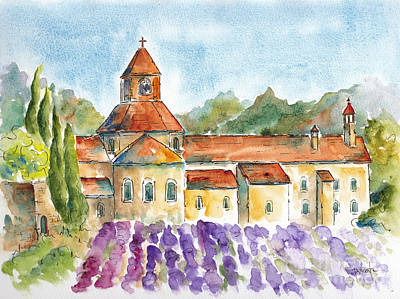 Painting - Senanque Abbey Lavender by Pat Katz