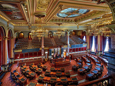 Senate Chamber At The Iowa State Capitol Art Print