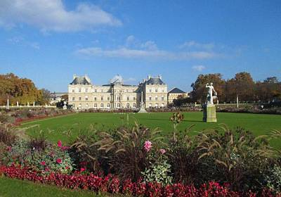 Photograph - Senate From Jardin Du Luxembourg by Christopher Kirby