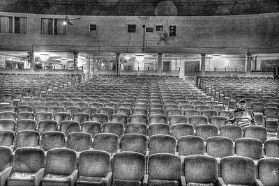 Senate Theatre Seating Detroit Mi Art Print by Nicholas  Grunas