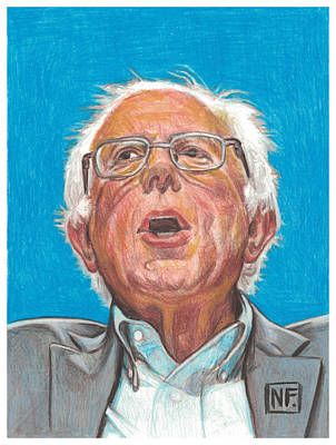 Prismacolor Drawing - Senator Bernie Sanders  Candidate For The Democratic Nomination For President Of The United States by Neil Feigeles