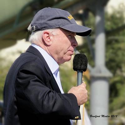 Photograph - Senator John Mccain Speaking by Bradford Martin