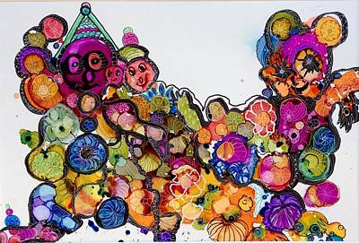 Painting - Send In The Clowns by Suzanne Canner