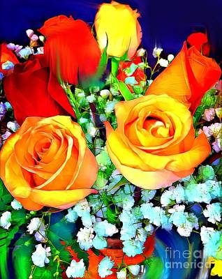 Digital Art - Send Me Roses by Gayle Price Thomas