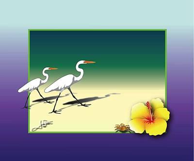 Wall Art - Digital Art - Send My Egrets by Jack Potter
