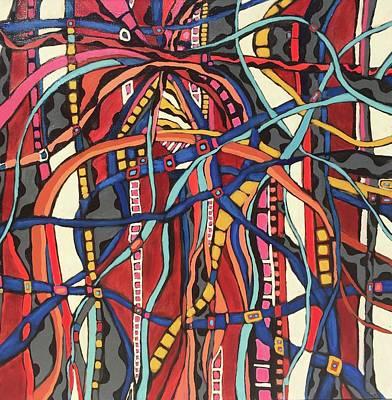 Painting - Senderos # 19 by Jeffrey Davies