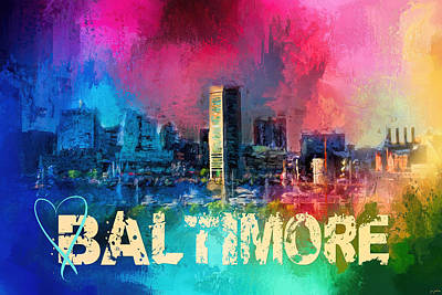 Photograph - Sending Love To Baltimore by Jai Johnson